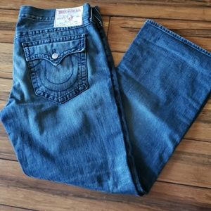Mens True Religion wide leg Jean's